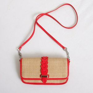 NEW Cole Haan Bedford Straw Clutch Crossbody Bag